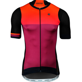 Biehler Pro Team Fietsshirt korte mouwen Heren oranje/violet